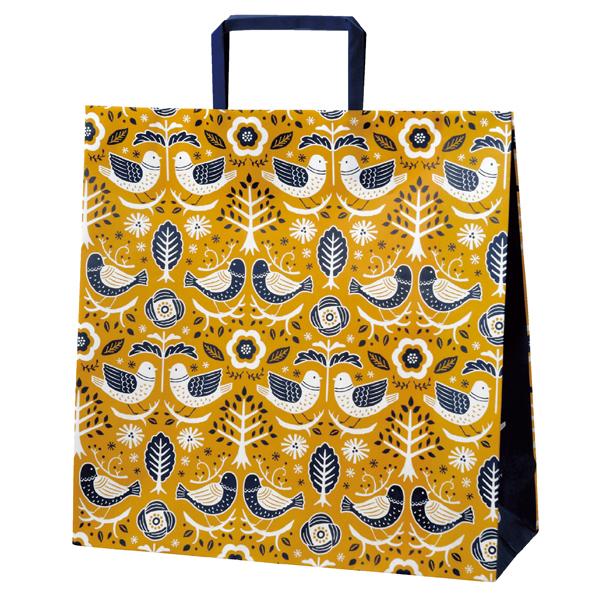 【まとめ買い10個セット品】 ノルディックスタイル手提紙袋 32×11.5cm50枚 32×11.5×32cm 50枚 【厨房館】