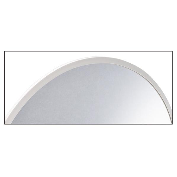 【まとめ買い10個セット品】 フレキシブルミラー直径55cm フレーム色 白 【厨房館】
