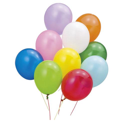 【まとめ買い10個セット品】 カラー風船 標準カラー 100個【店舗什器 小物 ディスプレー POP ポスター 消耗品 店舗備品】【厨房館】