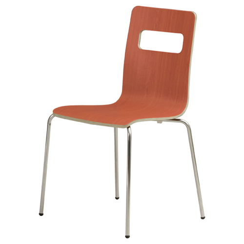 Bentwood wares stacking chair melamine brown two that I put it, and there  is no seat pad in