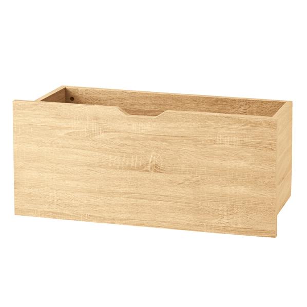 【まとめ買い10個セット品】 木製深型収納トロッコ W86.4×D37×H40.4cm エクリュ 【厨房館】