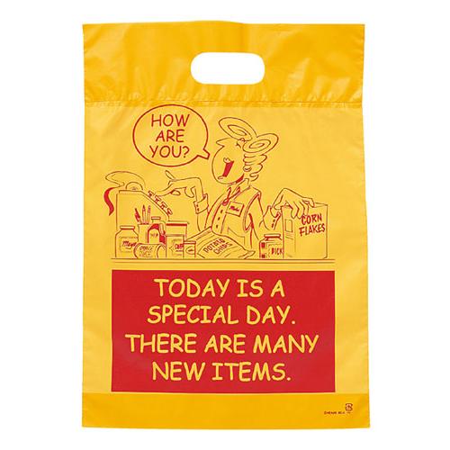 アメリカンコミック ポリバッグ 25.5×36.5×底マチ6 2000枚【店舗備品 包装紙 ラッピング 袋 ディスプレー店舗】【厨房館】