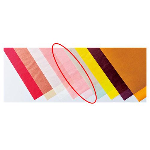 【まとめ買い10個セット品】 カラーワックスペーパー ピンク 50枚【店舗備品 包装紙 ラッピング 袋 ディスプレー店舗】【厨房館】