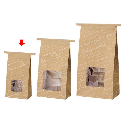 【まとめ買い10個セット品】 ワイヤーバッグ 窓付き 柄あり 9×5.5×17 50枚【店舗備品 包装紙 ラッピング 袋 ディスプレー店舗】【厨房館】