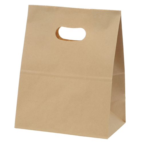 【まとめ買い10個セット品】 イーグリップ 茶無地 18×10.5×22.5 50枚【店舗備品 包装紙 ラッピング 袋 ディスプレー店舗】【厨房館】