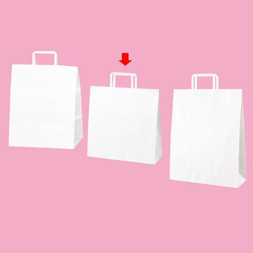 【まとめ買い10個セット品】 平ひも ローコストタイプ 白無地 32×11.5×32 300枚【店舗備品 包装紙 ラッピング 袋 ディスプレー店舗】【厨房館】