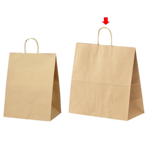 丸ひも ローコストタイプ 茶無地 45×22×45.5 200枚【店舗備品 包装紙 ラッピング 袋 ディスプレー店舗】【厨房館】