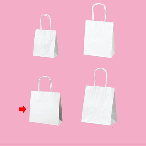 【まとめ買い10個セット品】 丸ひも ローコストタイプ 白無地 21×8×21 300枚【店舗備品 包装紙 ラッピング 袋 ディスプレー店舗】【厨房館】