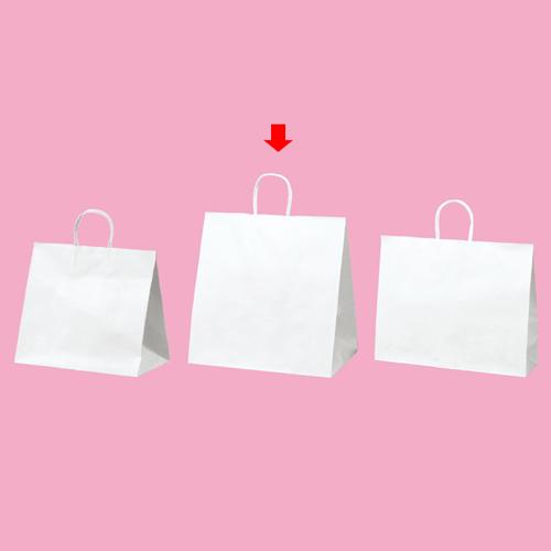 丸ひもタイプ 白無地 38×25×39.5 200枚【店舗備品 包装紙 ラッピング 袋 ディスプレー店舗】【厨房館】