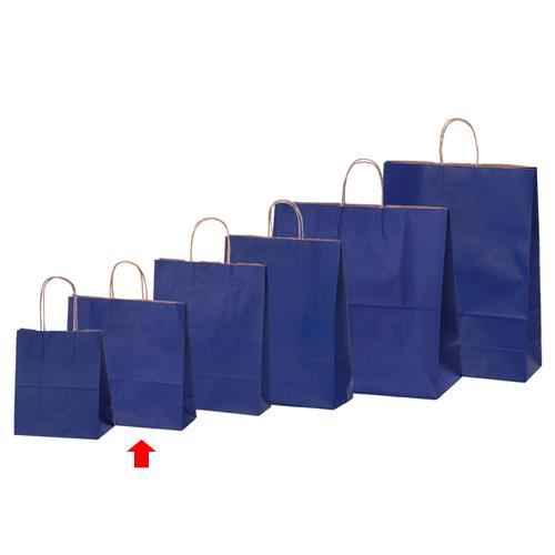 【まとめ買い10個セット品】 カラー手提げ紙袋 ネイビー 32×11.5×31 200枚【店舗備品 包装紙 ラッピング 袋 ディスプレー店舗】【厨房館】