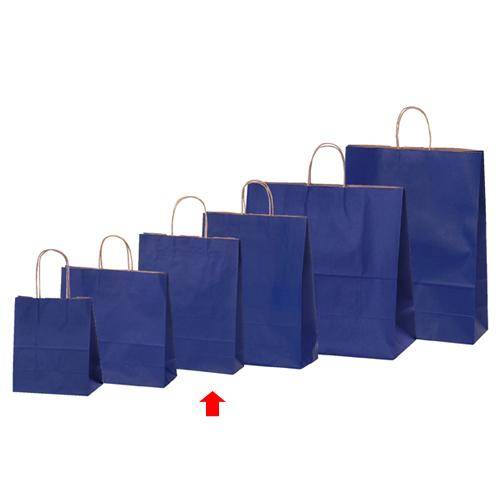 【まとめ買い10個セット品】 カラー手提げ紙袋 ネイビー 27×8×34 50枚【店舗備品 包装紙 ラッピング 袋 ディスプレー店舗】【厨房館】
