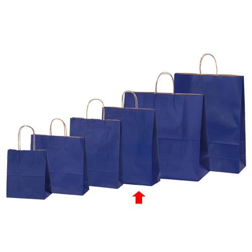 【まとめ買い10個セット品】 カラー手提げ紙袋 ネイビー 32×11.5×41 50枚【店舗備品 包装紙 ラッピング 袋 ディスプレー店舗】【厨房館】