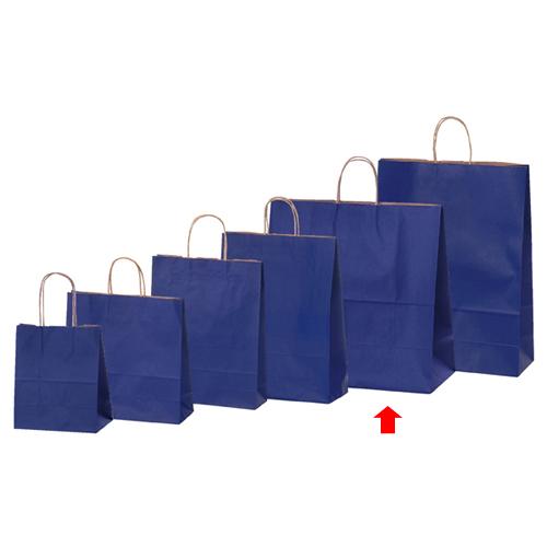【まとめ買い10個セット品】 カラー手提げ紙袋 ネイビー 45×22×45.5 50枚【店舗備品 包装紙 ラッピング 袋 ディスプレー店舗】【厨房館】