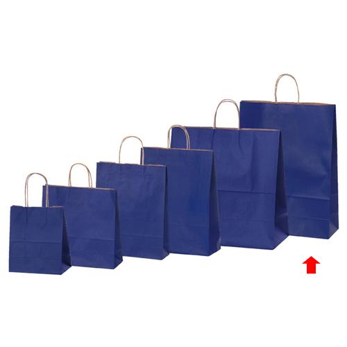 【まとめ買い10個セット品】 カラー手提げ紙袋 ネイビー 38×15×50 50枚【店舗備品 包装紙 ラッピング 袋 ディスプレー店舗】【厨房館】