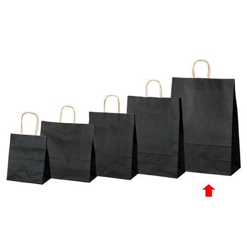 【まとめ買い10個セット品】 カラー手提げ紙袋 黒 38×15×50 50枚【店舗備品 包装紙 ラッピング 袋 ディスプレー店舗】【厨房館】