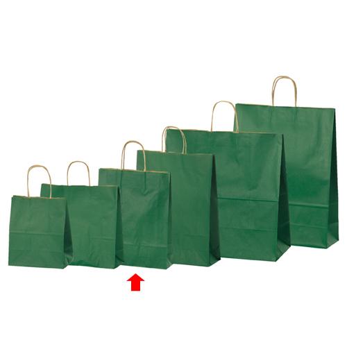 【まとめ買い10個セット品】 カラー手提げ紙袋 グリーン 27×8×34 50枚【店舗備品 包装紙 ラッピング 袋 ディスプレー店舗】【厨房館】