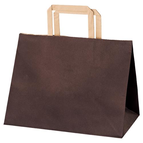 【まとめ買い10個セット品】 カラー手提げ紙袋 マチ広タイプ ブラウン 28×18×22 50枚【店舗備品 包装紙 ラッピング 袋 ディスプレー店舗】【厨房館】