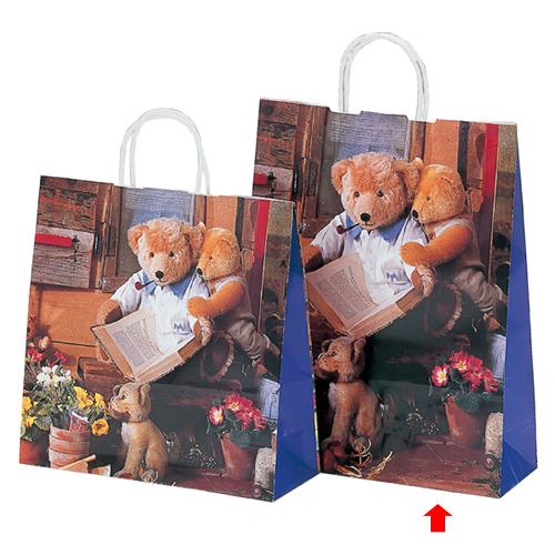 【まとめ買い10個セット品】 ハニーベアー 32×11×40 50枚【店舗備品 包装紙 ラッピング 袋 ディスプレー店舗】【厨房館】