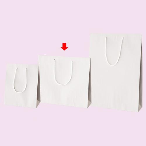 【まとめ買い10個セット品】 カラー手提げ紙袋 ホワイト 33×10×29 10枚【店舗備品 包装紙 ラッピング 袋 ディスプレー店舗】【厨房館】