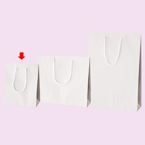 【まとめ買い10個セット品】 カラー手提げ紙袋 ホワイト 20×12×25 100枚【店舗備品 包装紙 ラッピング 袋 ディスプレー店舗】【厨房館】