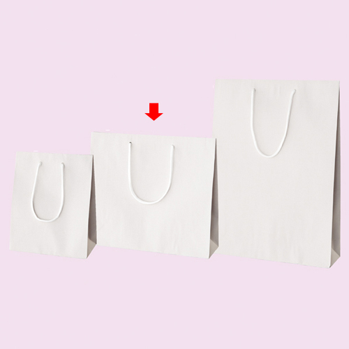 【まとめ買い10個セット品】 カラー手提げ紙袋 ホワイト 33×10×29 100枚【店舗備品 包装紙 ラッピング 袋 ディスプレー店舗】【厨房館】