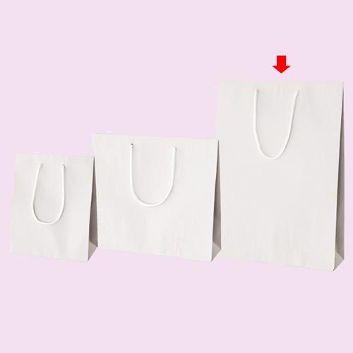 カラー手提げ紙袋 ホワイト 33×10×45 100枚【店舗備品 包装紙 ラッピング 袋 ディスプレー店舗】【厨房館】