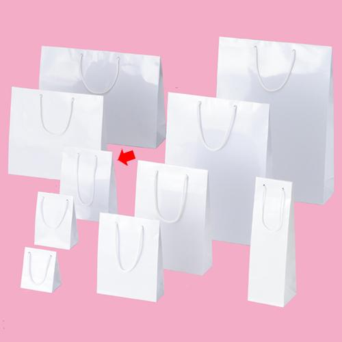 【まとめ買い10個セット品】 ブライトバッグ ホワイト 17×8.5×23 50枚【店舗備品 包装紙 ラッピング 袋 ディスプレー店舗】【厨房館】