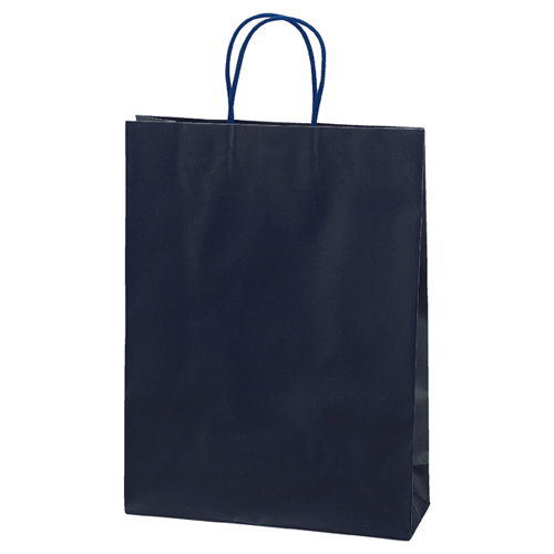 マットバッグ ネイビー 32×11×43 100枚【店舗備品 包装紙 ラッピング 袋 ディスプレー店舗】【厨房館】