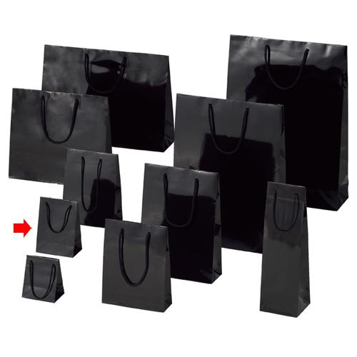 【まとめ買い10個セット品】 ブライトバッグ ブラック 12×7×16.5 10枚【店舗備品 包装紙 ラッピング 袋 ディスプレー店舗】【厨房館】
