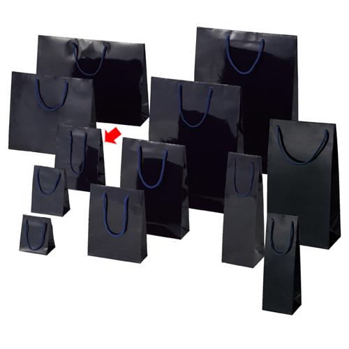 【まとめ買い10個セット品】 ブライトバッグ 紫紺 17×8.5×23 50枚【店舗備品 包装紙 ラッピング 袋 ディスプレー店舗】【厨房館】