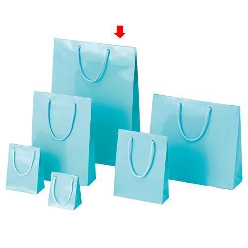 【まとめ買い10個セット品】 ブライトバッグ アサギ 33×10×45 150枚【店舗備品 包装紙 ラッピング 袋 ディスプレー店舗】【厨房館】