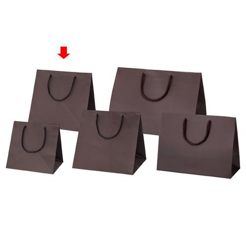 マット貼りブライトバッグ ブラウン 28×25×28 50枚【店舗備品 包装紙 ラッピング 袋 ディスプレー店舗】【厨房館】