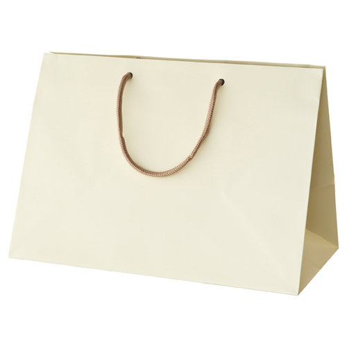 【まとめ買い10個セット品】 ブライトバッグ マチ広 アイボリー 42×23×30 10枚【店舗備品 包装紙 ラッピング 袋 ディスプレー店舗】【厨房館】