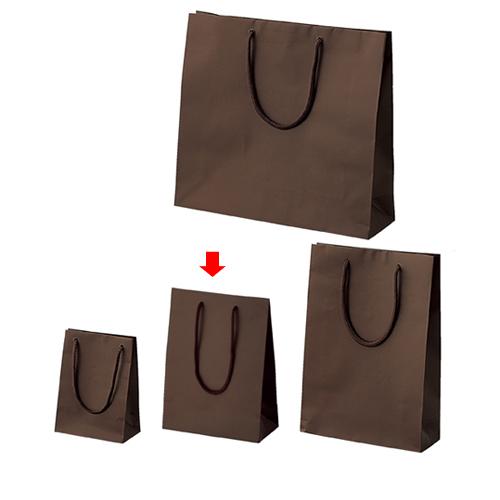 【まとめ買い10個セット品】 マット貼り紙袋 ブラウン 17×8.5×23 50枚【店舗備品 包装紙 ラッピング 袋 ディスプレー店舗】【厨房館】