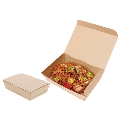 【まとめ買い10個セット品】 ネオクラフトBOX スナックBOX M 20枚【店舗備品 包装紙 ラッピング 袋 ディスプレー店舗】【厨房館】