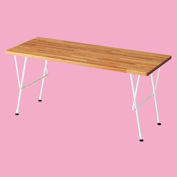 【まとめ買い10個セット品】 ナチュラルアイアン テーブル W120 ホワイト 【厨房館】