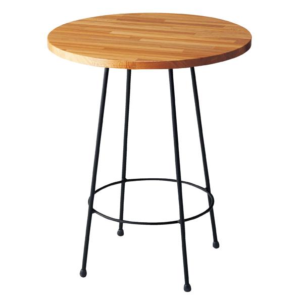 【まとめ買い10個セット品】 ナチュラルアイアン ラウンドテーブル φ60 ブラック 【厨房館】
