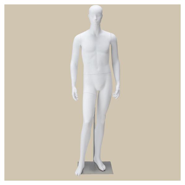 【まとめ買い10個セット品】 紳士全身腰受けリアルマネキン M 白ベース 【厨房館】