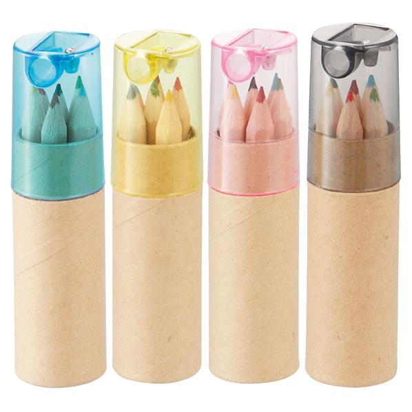 【まとめ買い10個セット品】 シャープナー付き色鉛筆(6本入り)400個 【厨房館】
