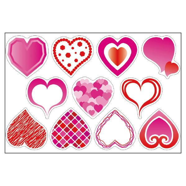 【まとめ買い10個セット品】 ウインドウシール ハート1セット 【バレンタインデー 飾り イベント 装飾】 【厨房館】