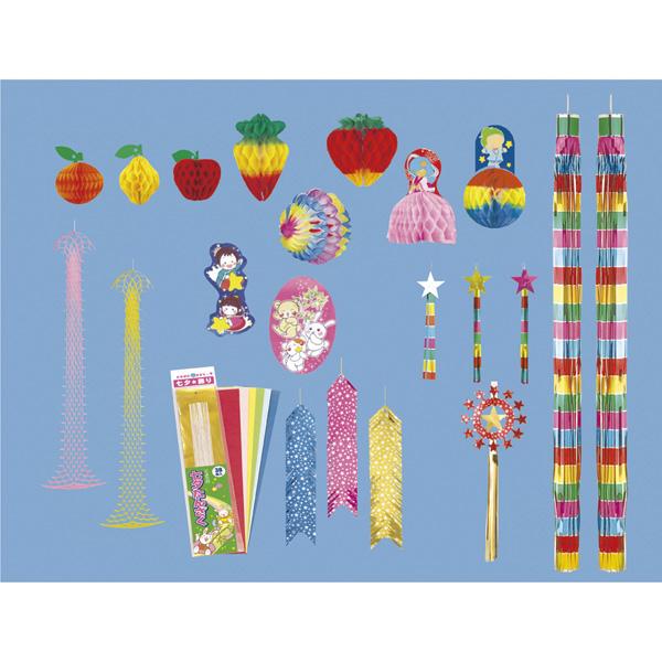 【まとめ買い10個セット品】 七夕装飾セット 中1セット 【厨房館】
