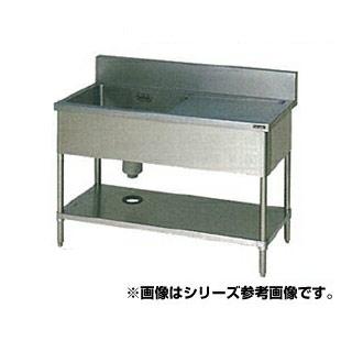【 業務用 】マルゼン 一槽水切シンク BG有 W1200×D600×H800〔BSM1X-126L〕 【 メーカー直送/代引不可 】