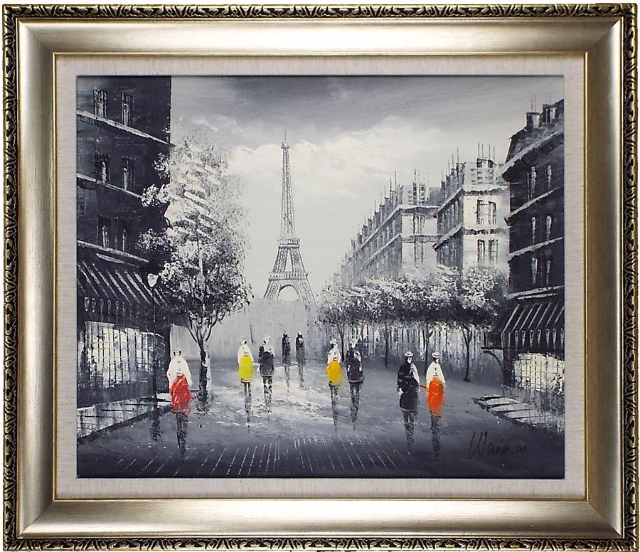 完全手描き人気油絵 額入り 簡単取付 リビングや玄関や寝室におすすめの壁掛けインテリア油彩画 激安で高品質 プレゼントもギフトも新築祝いにも大人気 返品保証 パリの絵 絵画 新色追加 油絵 額約75cm×65cm 開院祝い 玄関 いつでも送料無料 部屋とリビングに飾るおすすめ人気インテリア絵画 完全手書き油彩画 送料無料 額入り油絵20号 エッフェル塔下の街 アートパネル開業祝い おしゃれな壁掛け油絵の高級感がそのもの