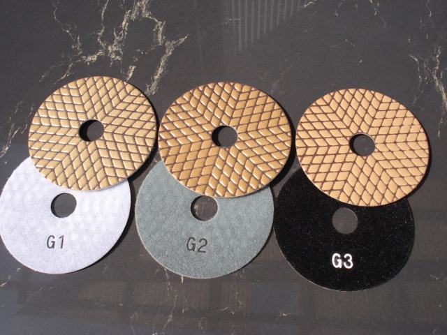 御影石用3工程ダイヤモンド研磨パッド オクトロンG100mm 3枚セット