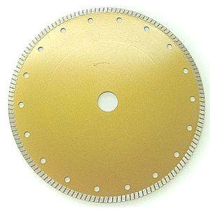 10インチ乾式湿式両用ダイヤモンドカッター(ターボリムタイプ) 薄刃1.6mm厚
