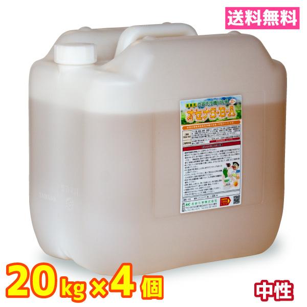 業務用 食器洗浄機 食洗器 洗剤 送料無料 20kg 4個 中性 オセナS-B-A ホシザキ等各種メーカーに対応