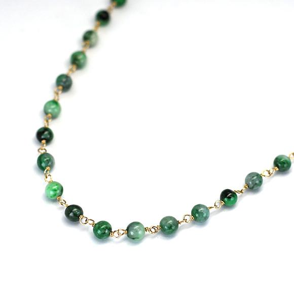 濃緑ミックスカラーネックレス