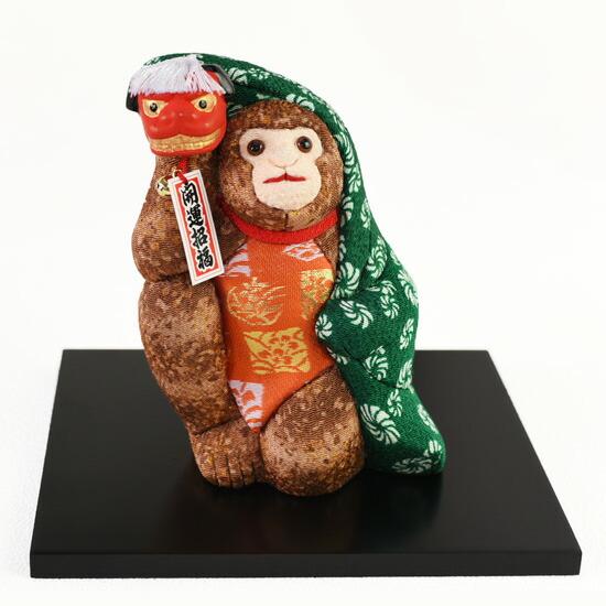 干支人形 申年祝い獅子(木目込み人形)