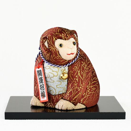 海外限定 干支人形 申 福寿申 優先配送 木目込み人形 新倉 申年 綾子 創作人形作家