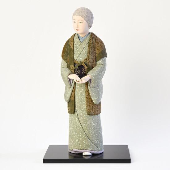 創作人形 白寿(創作木彫/布木目込み仕上げ)